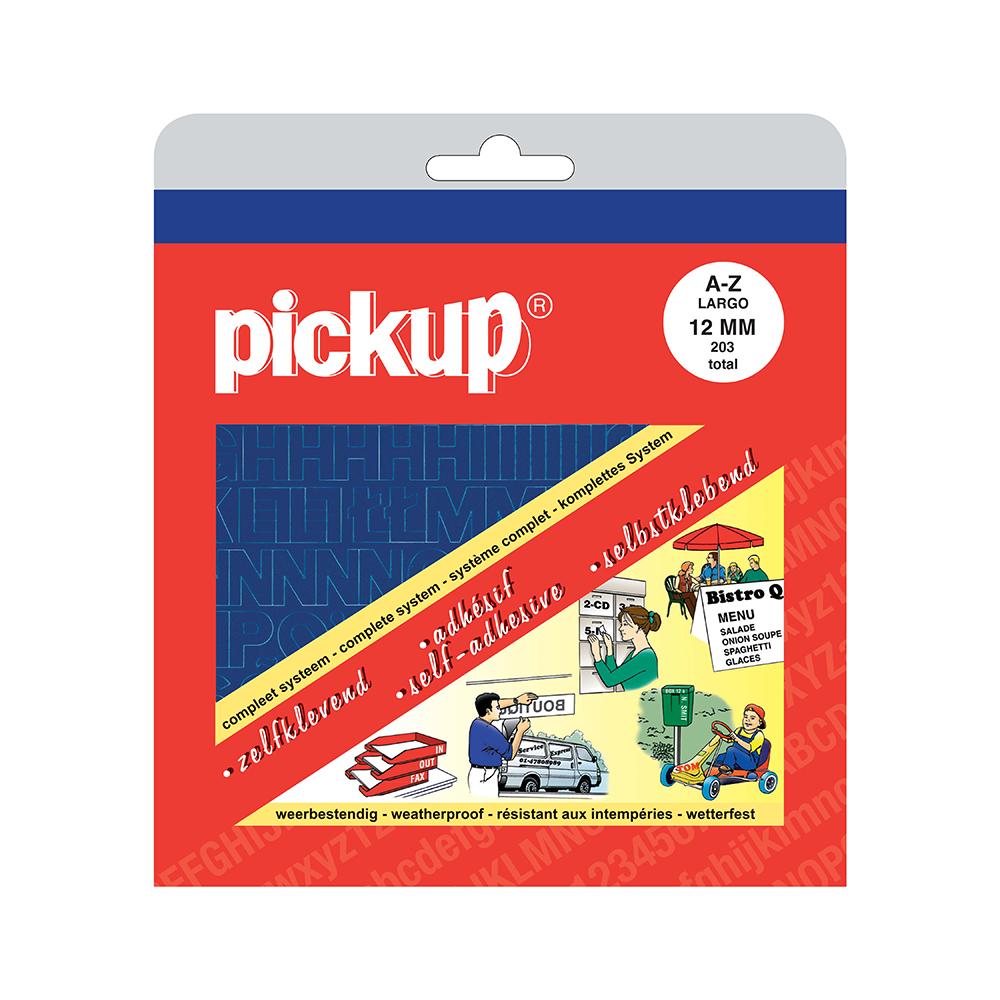 Pickup plakletters boekje Largo blauw - 12 mm