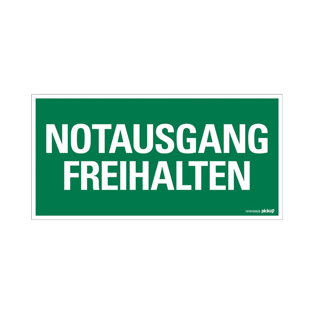 Kunststoff Schild 30 x 15 cm NOTAUSGANG FREIHALTEN