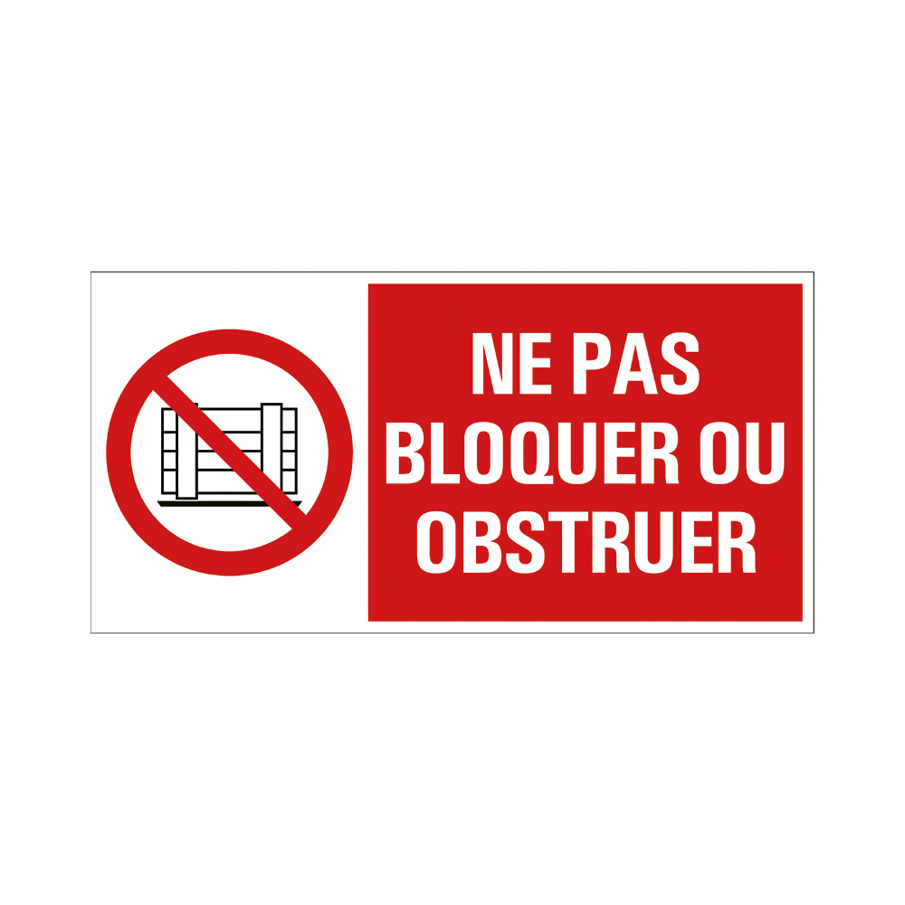 Pickup - Ne pas bloquer ou obstruer - conform NEN-EN-ISO 7010 bord 30x15 cm