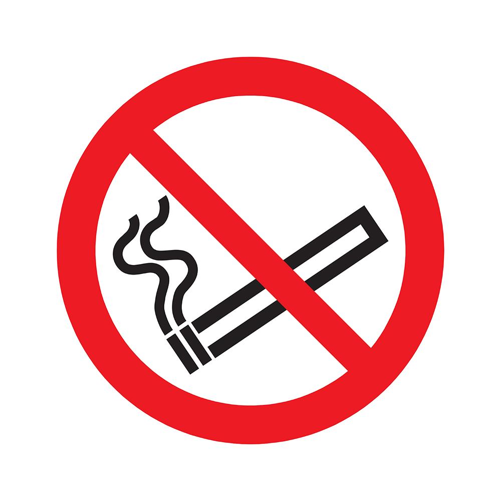 Bord rond 180 mm - Verboden te roken