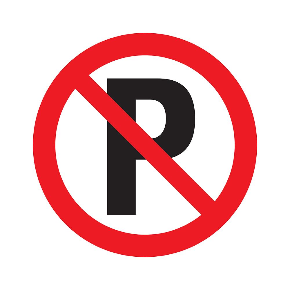 Bord rond 180 mm - Verboden te parkeren
