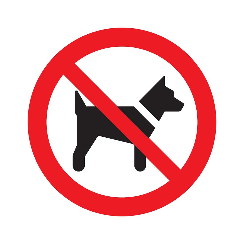 Bord rond 180 mm - Verboden voor honden