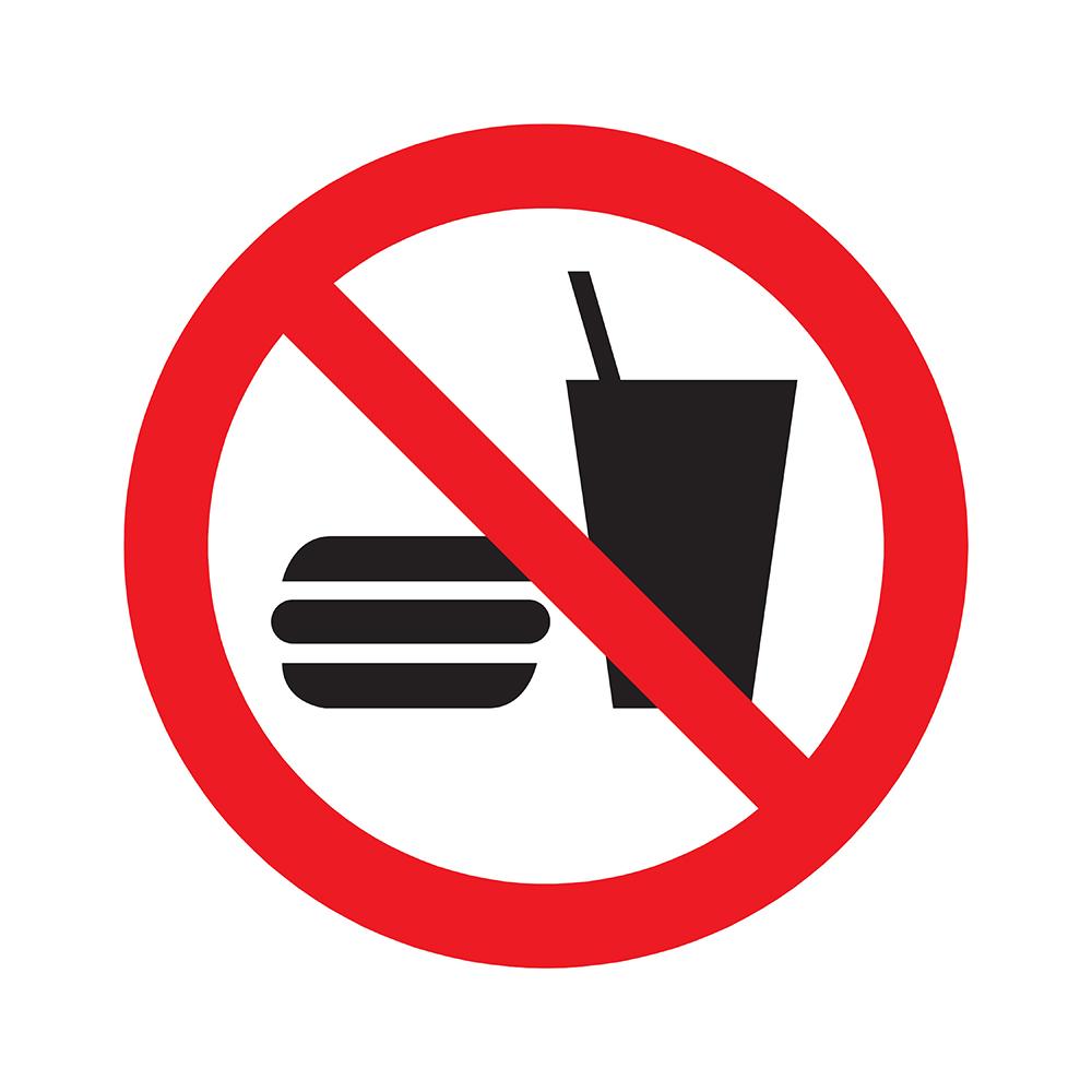 Bord rond 180 mm - Verboden voor consumpties