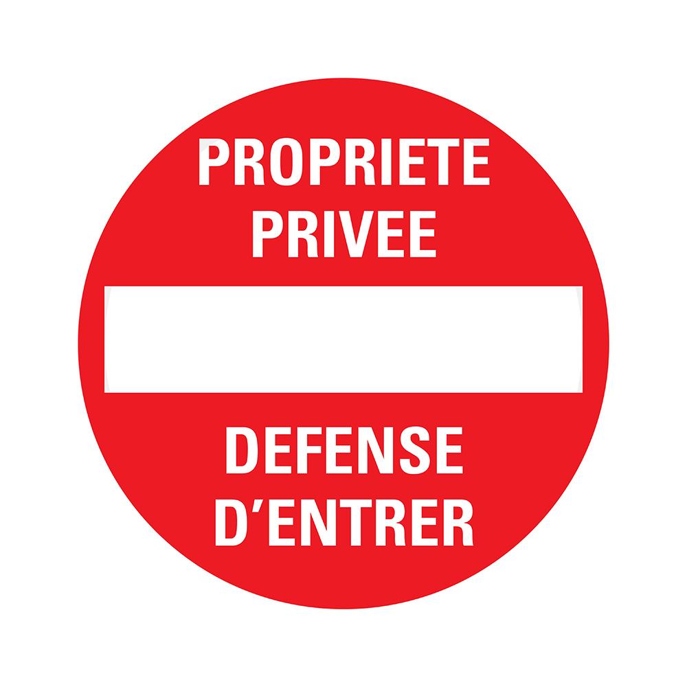 Bord rond 180 mm - Propr.privée-Défense d'entrer