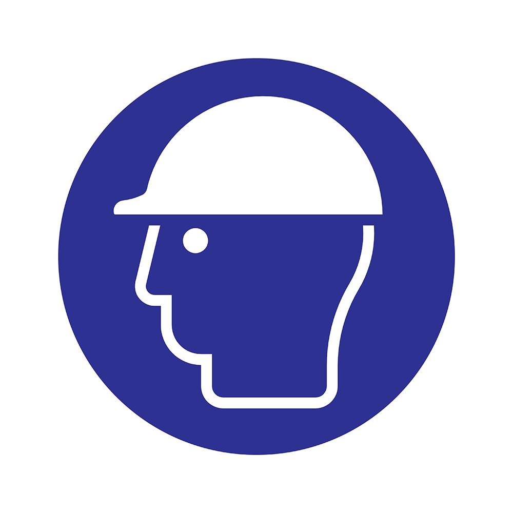 Bord rond 180 mm - Veiligheidshelm dragen