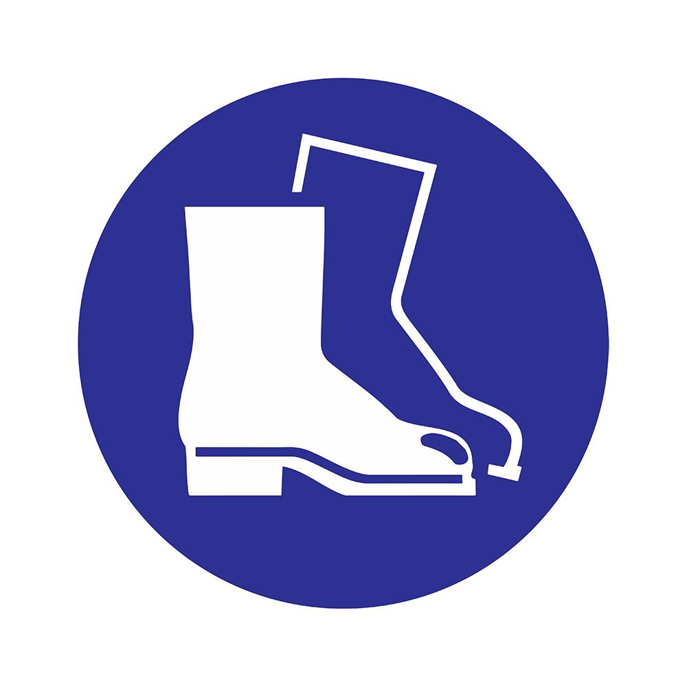 Bord rond 180 mm - Veiligheidsschoenen dragen