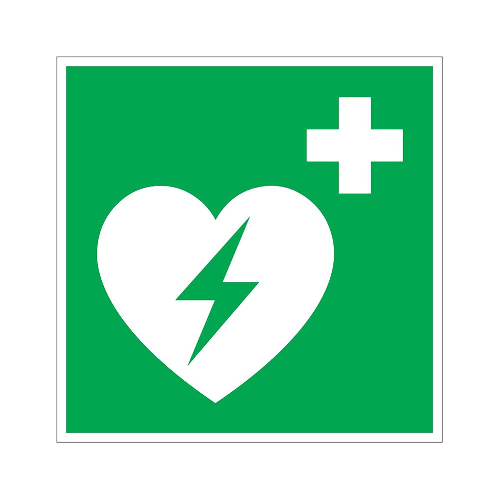 Bord 200x200 mm - AED Defibrillator