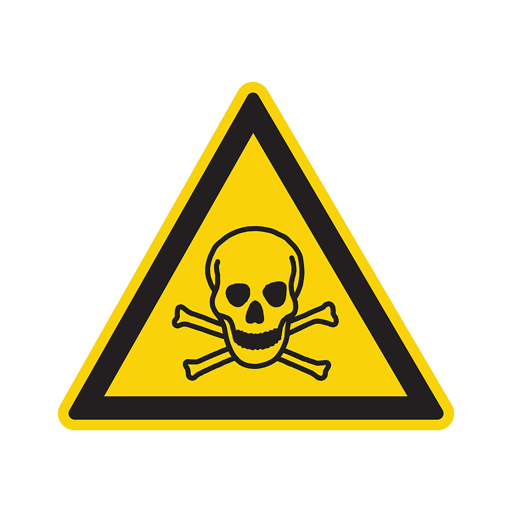 Bord driehoek 200 mm - Giftige stoffen