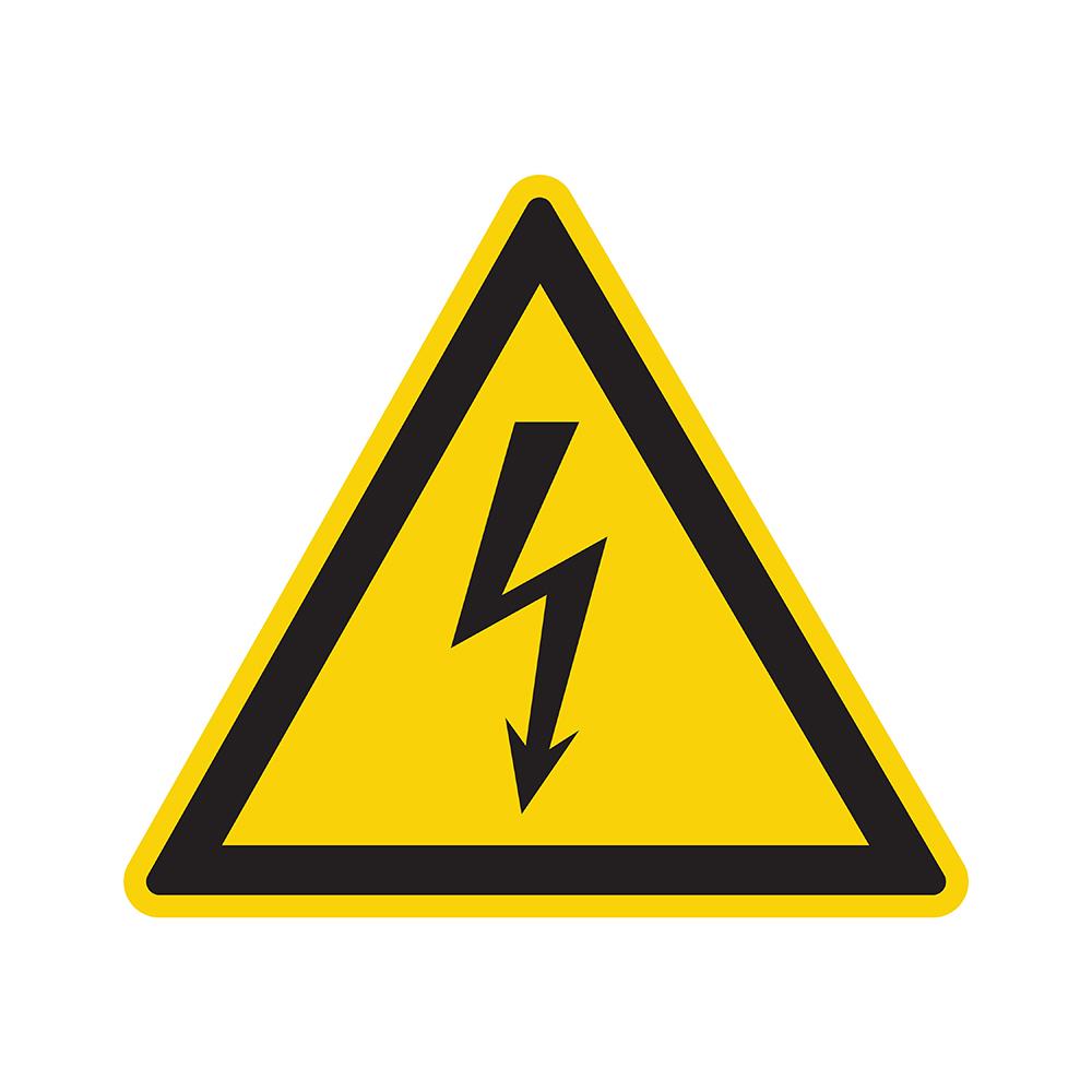 Bord driehoek 200 mm - Gevaarlijke elektrische spanning