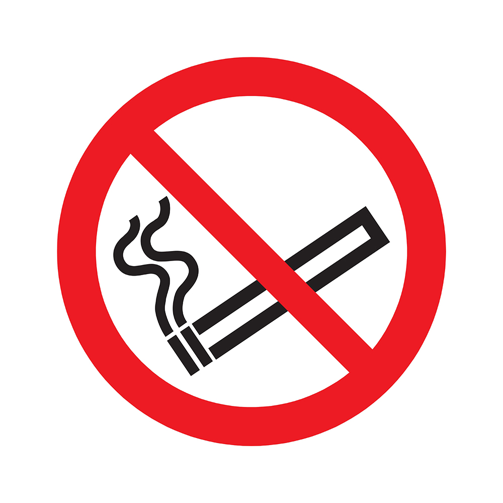 Bord rond 300 mm - Verboden te roken