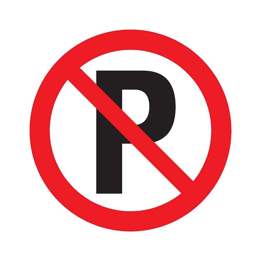 Bord rond 300 mm - Verboden te parkeren