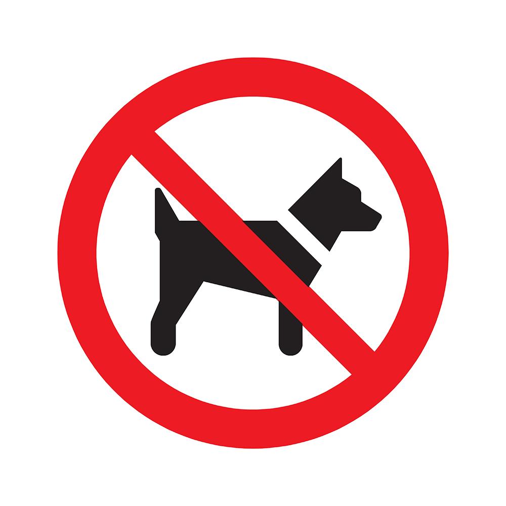 Bord rond 300 mm - Verboden voor honden