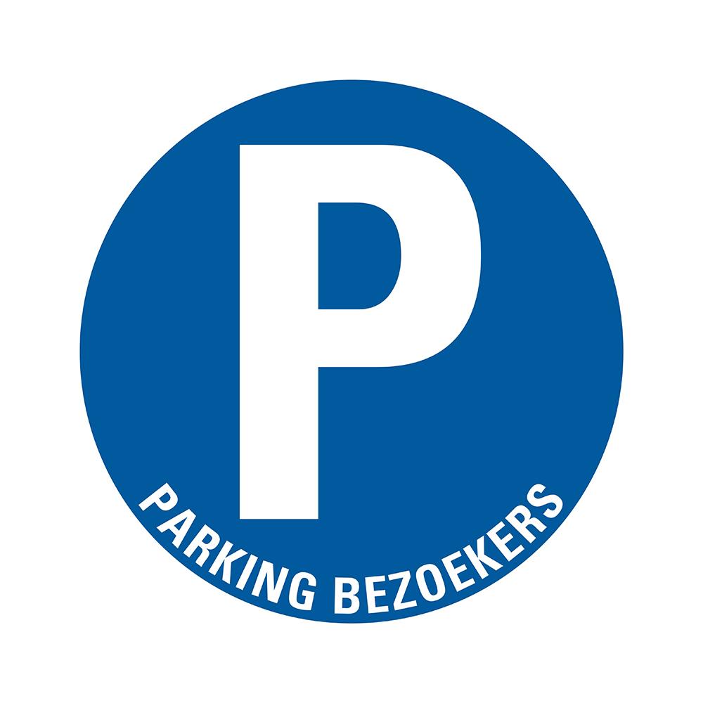 Bord rond 300 mm - Parking bezoekers