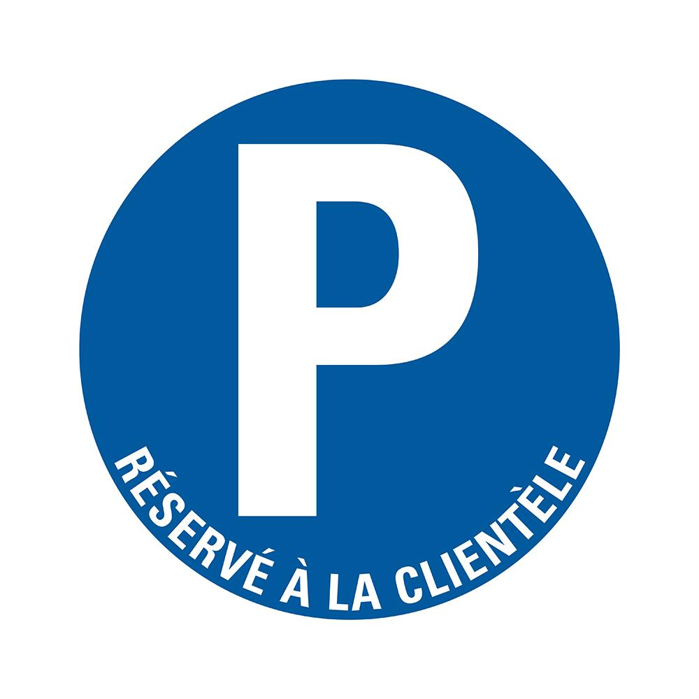 Bord rond 300 mm - Parking réservé à la clientèle