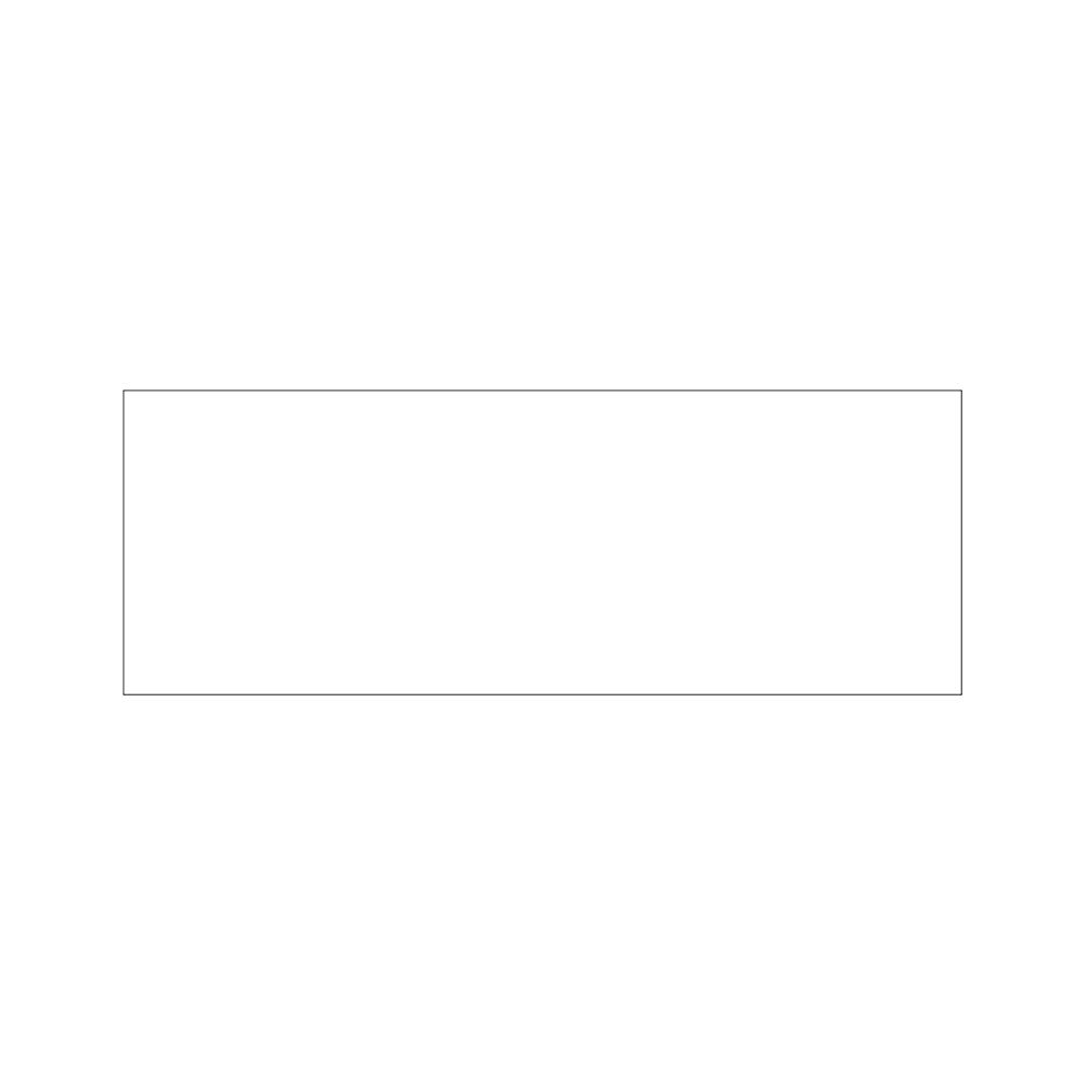 Bord 33x12cm - wit bord zonder tekst