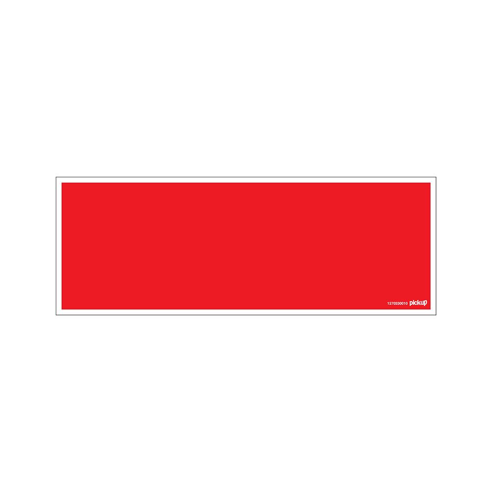 Bord 33x12cm - rood bord zonder tekst