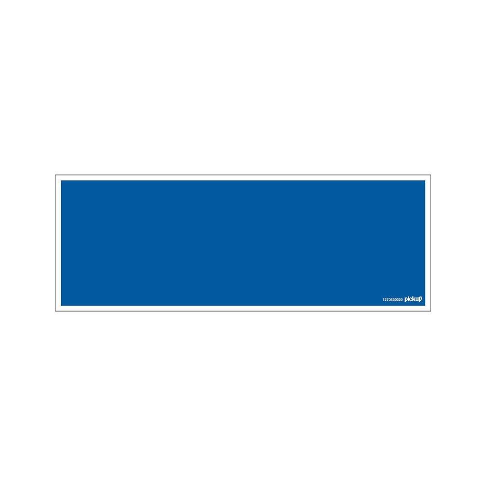 Bord 33x12cm - blauw bord zonder tekst