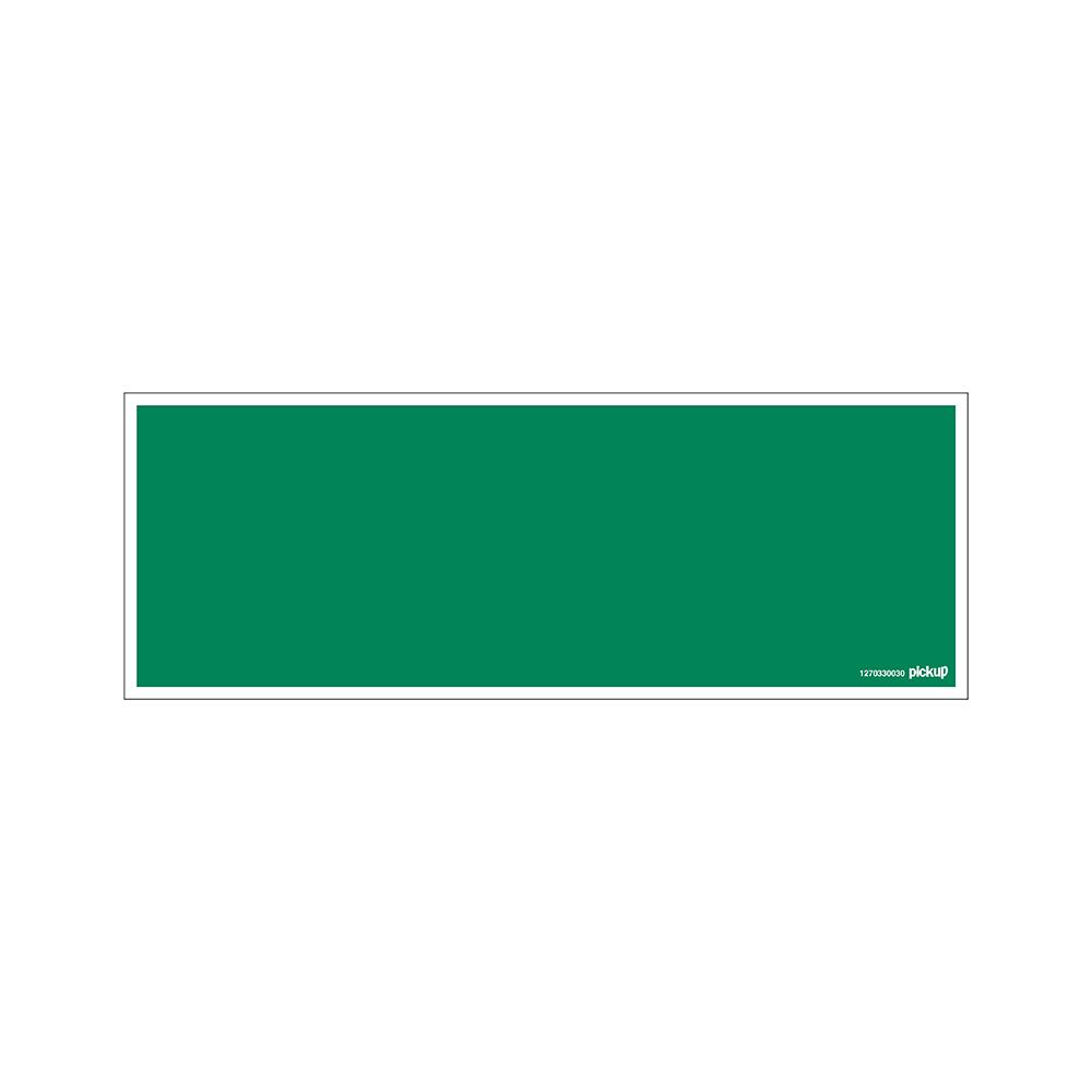 Bord 33x12cm - groen bord zonder tekst