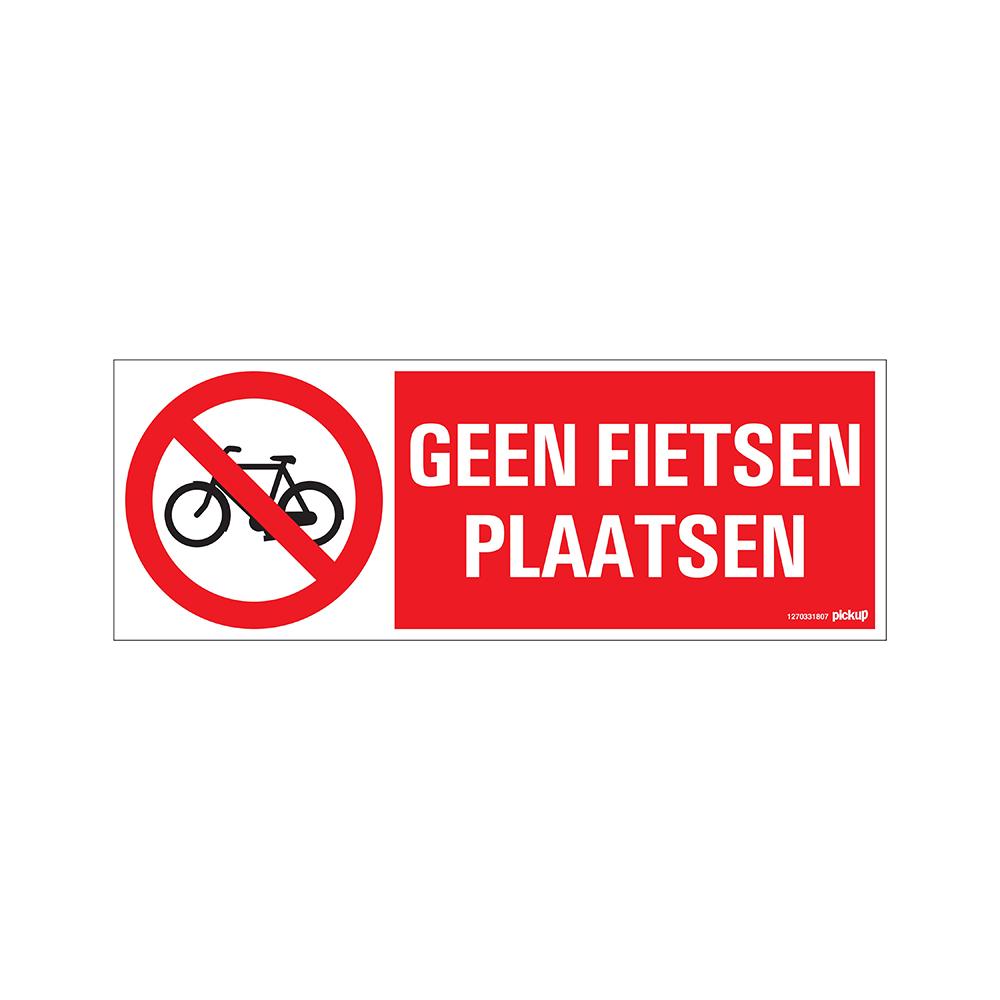 Bord 33x12cm - Geen fietsen plaatsen