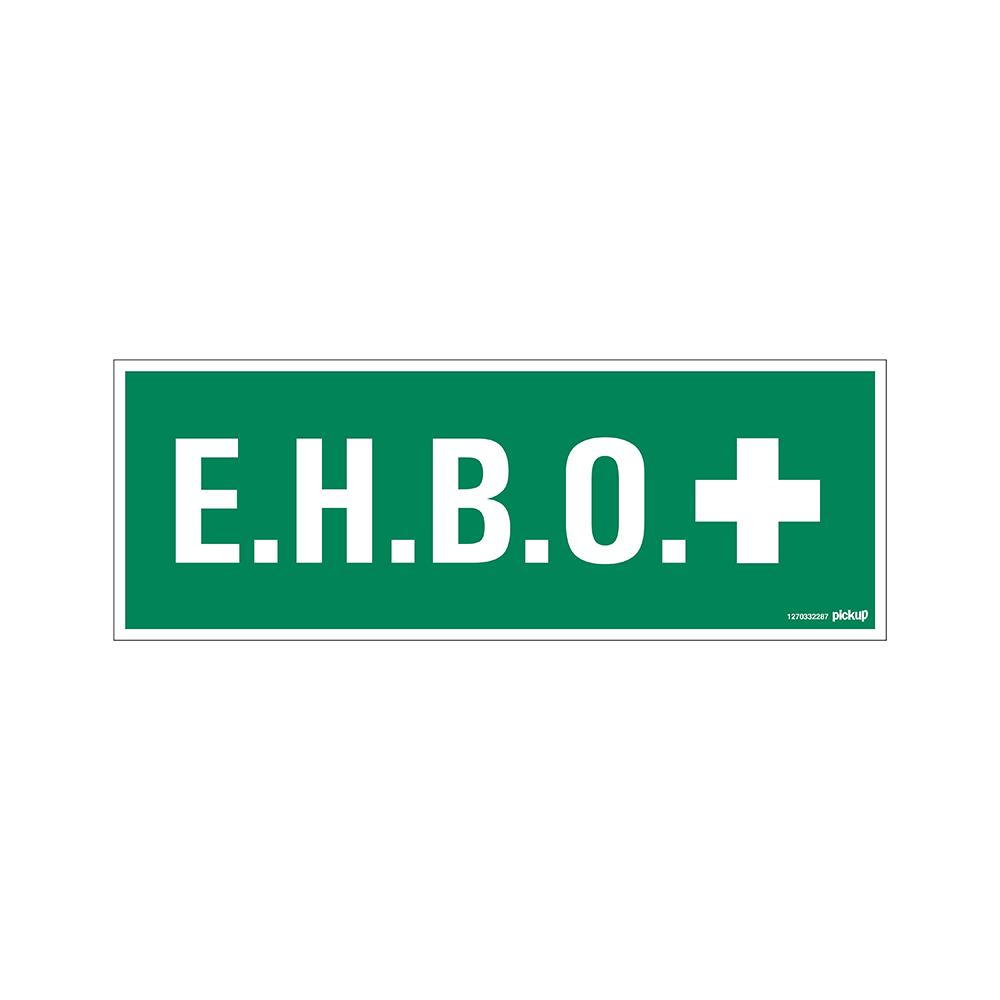 Pickup bord 33x12 cm - EHBO - E.H.B.O. Eerste Hulp Bij Ongelukken