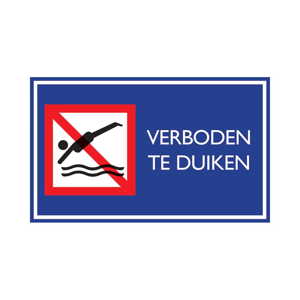 Nautic verboden te duiken - Bord 33x20cm