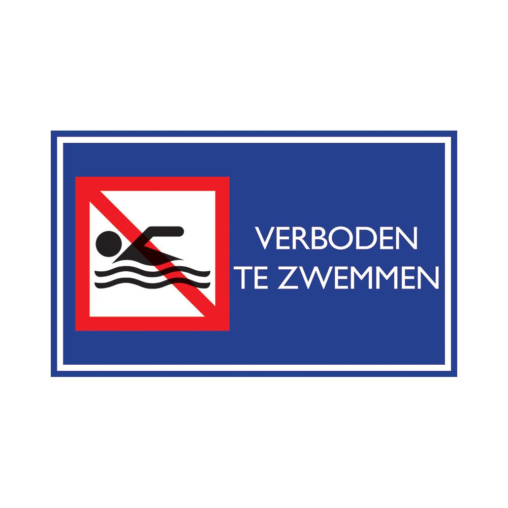 Nautic verboden te zwemmen - Bord 33x20cm