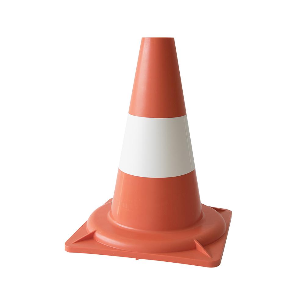 Pylon oranje wit - 30 cm