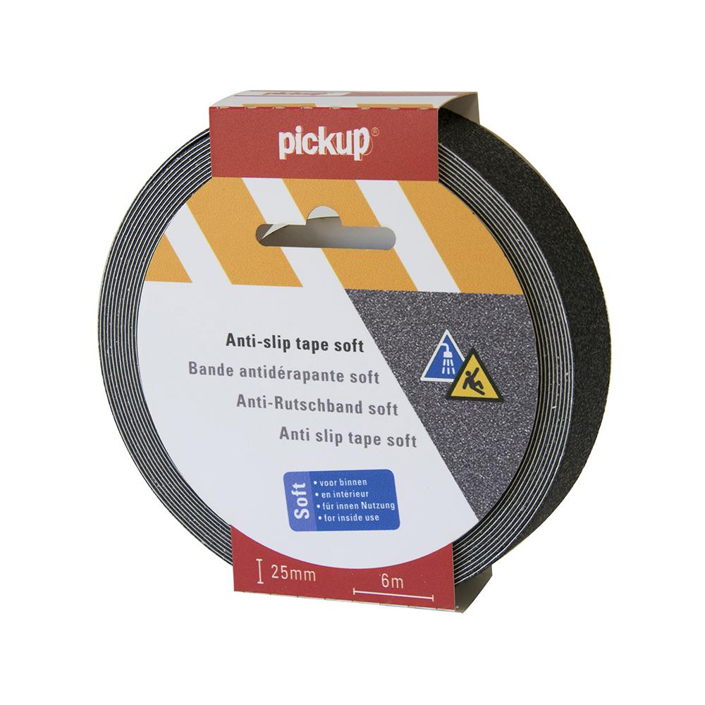 Antislip tape Soft zwart - 6 mtr x 2,5 cm
