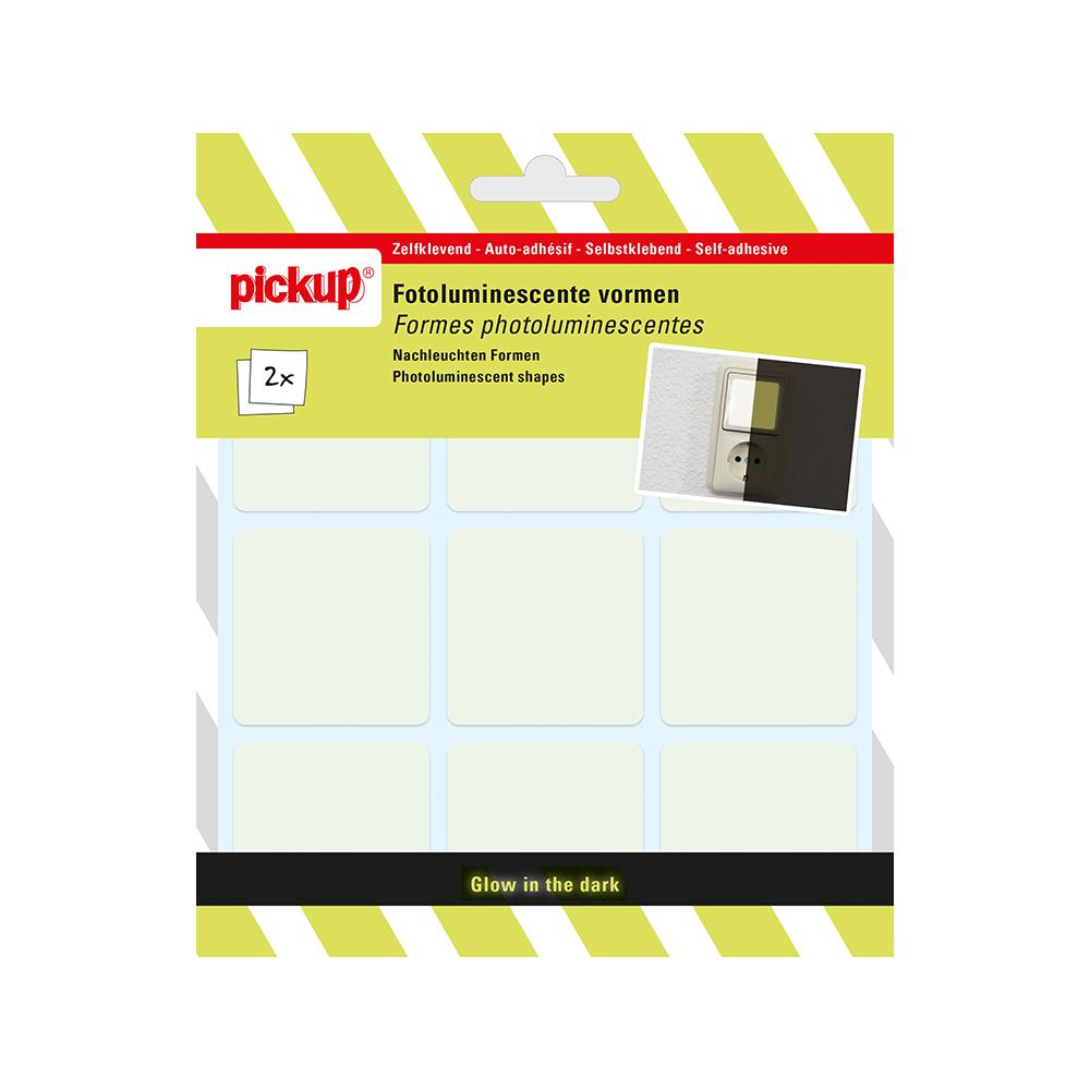 Pickup Fotoluminiscerende vorm transparant - 4,5x4,5 cm fotoluminiscent