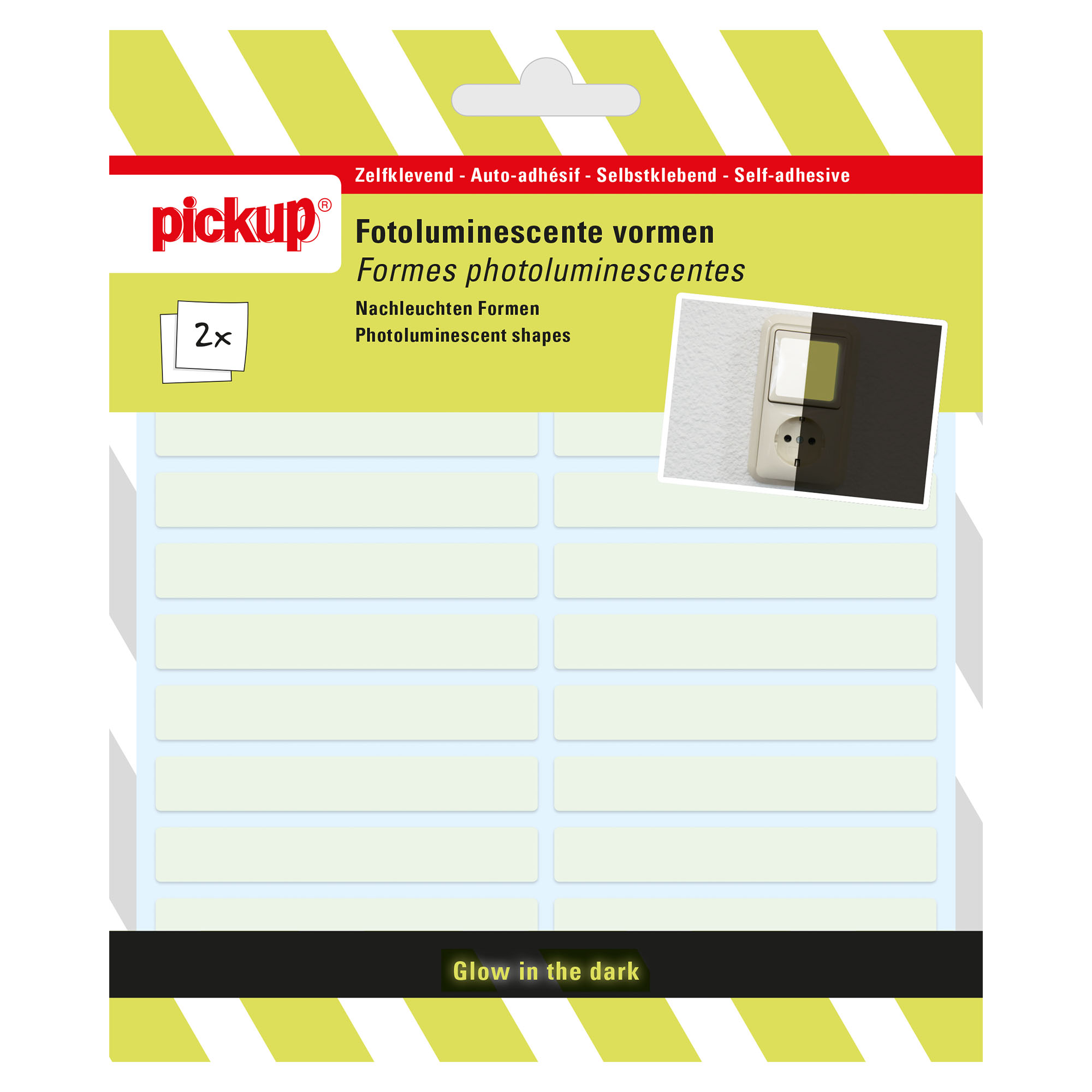 Pickup Fotoluminiscerende vorm transparant - 7x1 cm fotoluminiscent