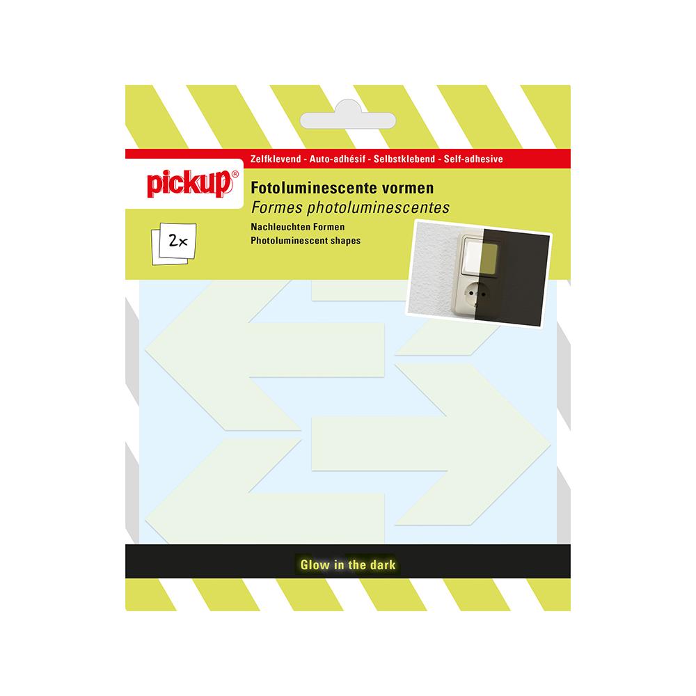 Pickup Fotoluminiscerende vorm transparant - pijlen 6,5 cm fotoluminiscent