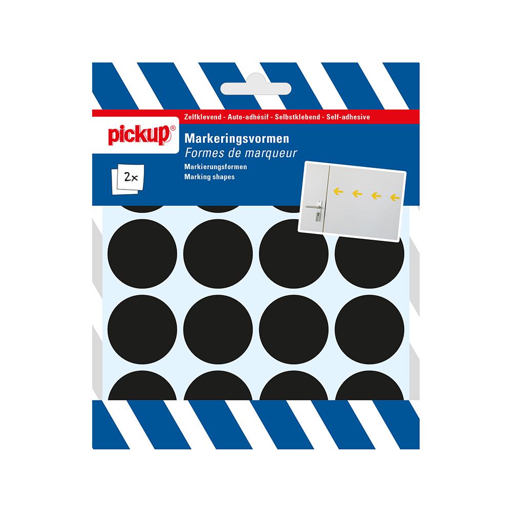 Markeringsvorm zwart - cirkel 35 mm