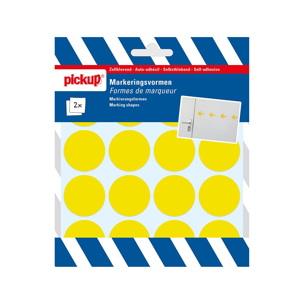 Markeringsvorm geel - cirkel 35 mm
