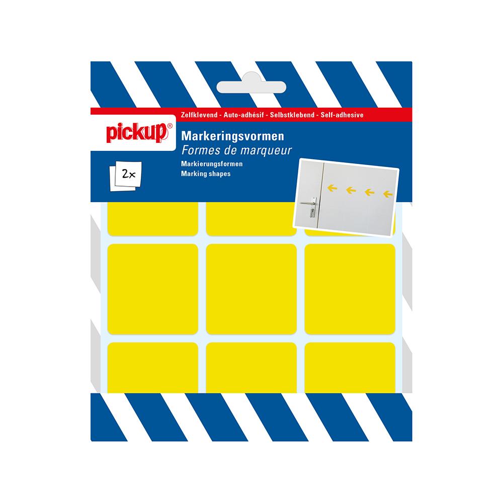 Markeringsvorm geel - 45x45 mm