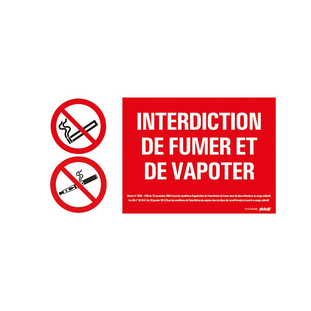 Bord 300x150 mm - Interdiction de fumer et de vapoter