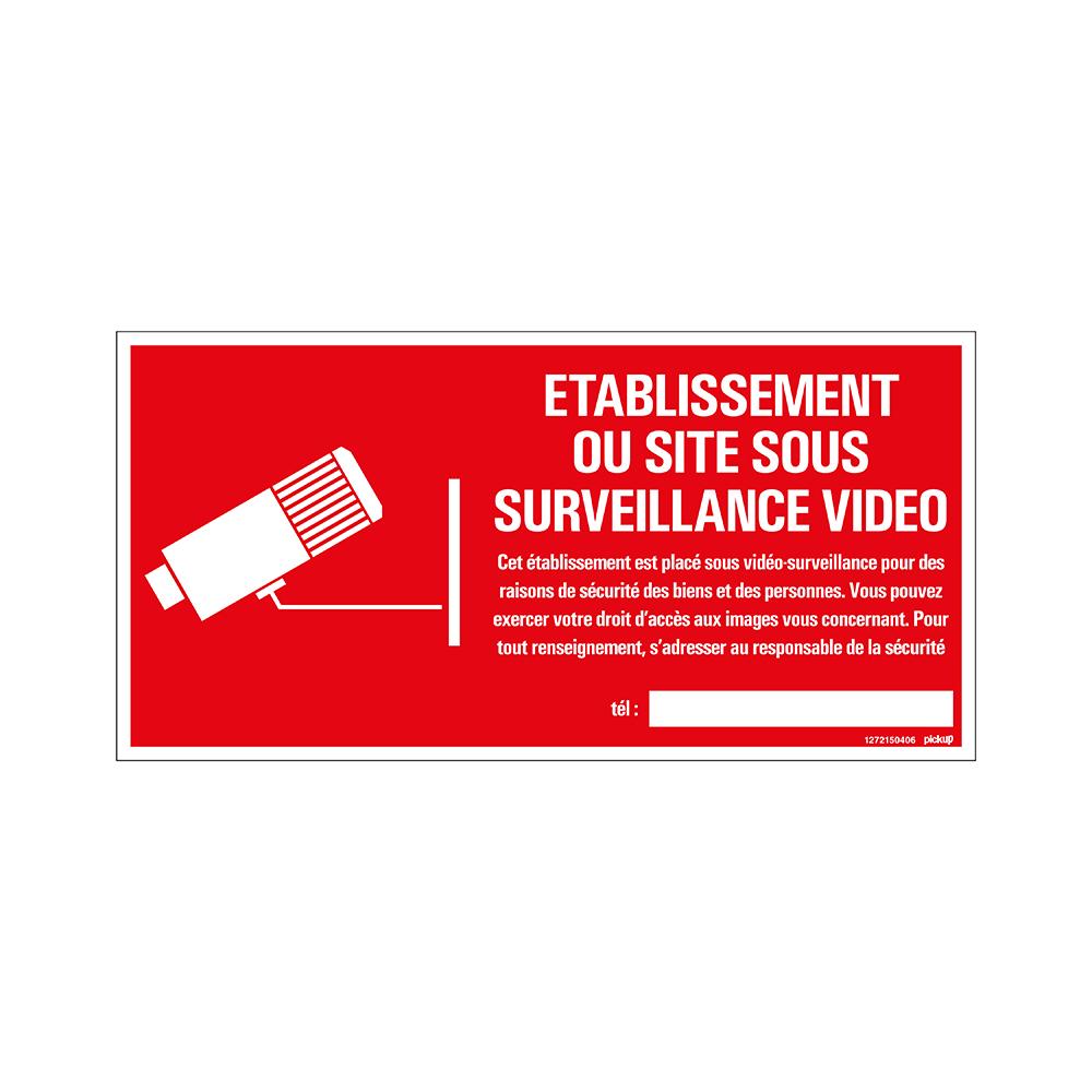 Bord 300x150 mm - Site sous surveillance video