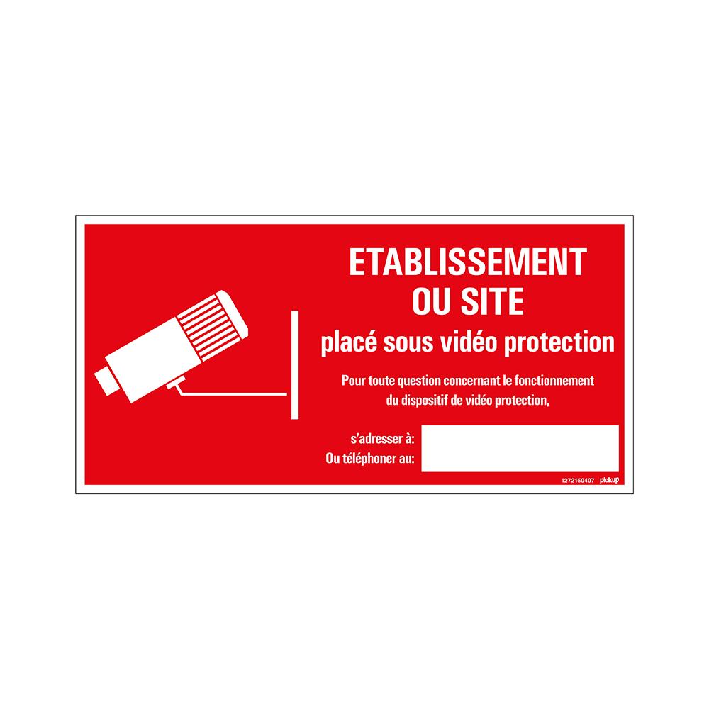 Pickup bord panneau 30x15 cm - Site sous videoprotection