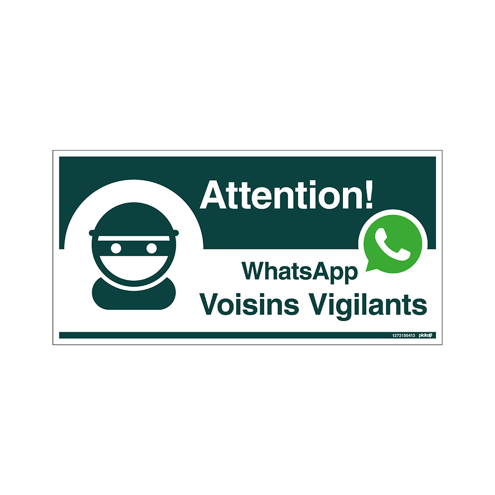 Bord 300x150 mm - WhatsApp Voisins Vigilants