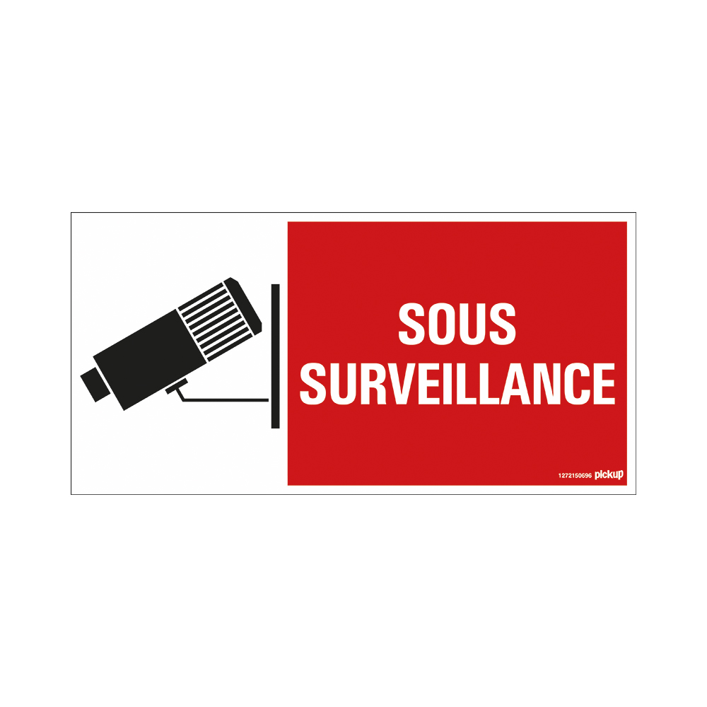 Bord 300x150 mm - 3802 Sous surveillance