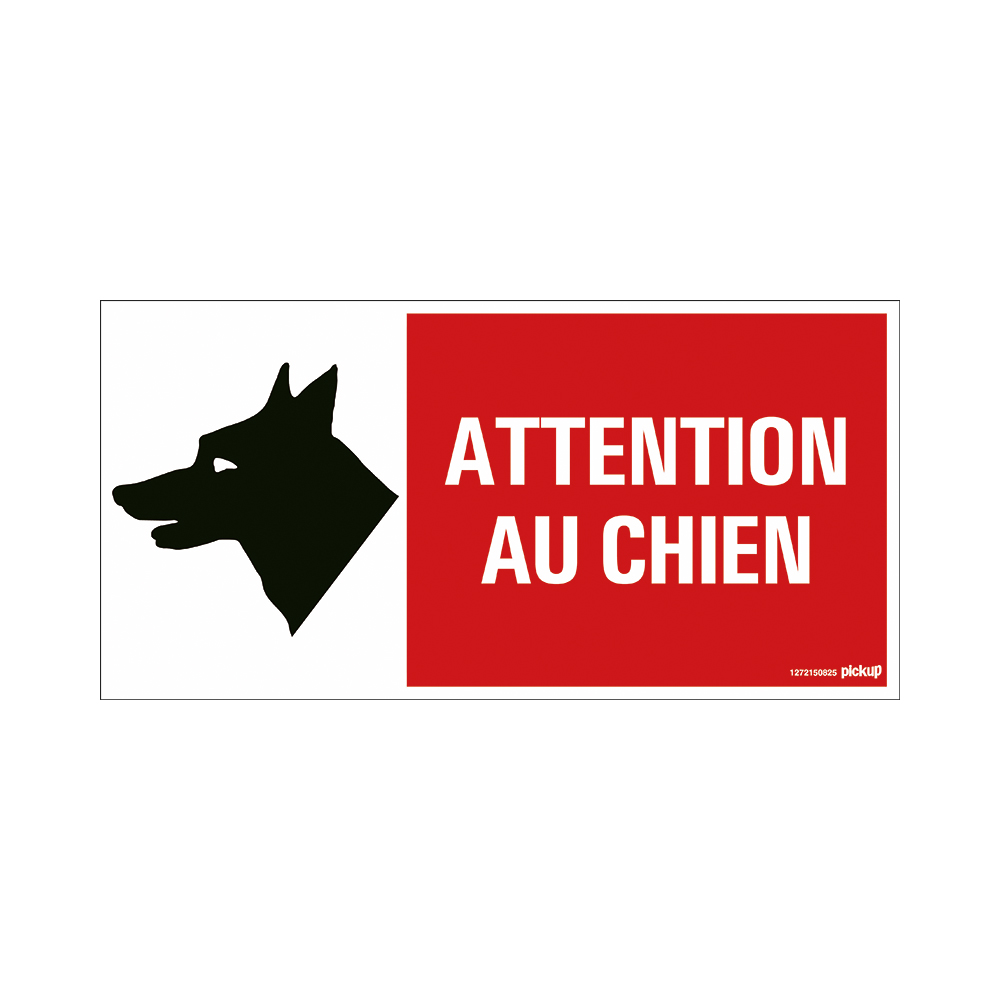 Bord 300x150 mm - 3804 Attention au chien