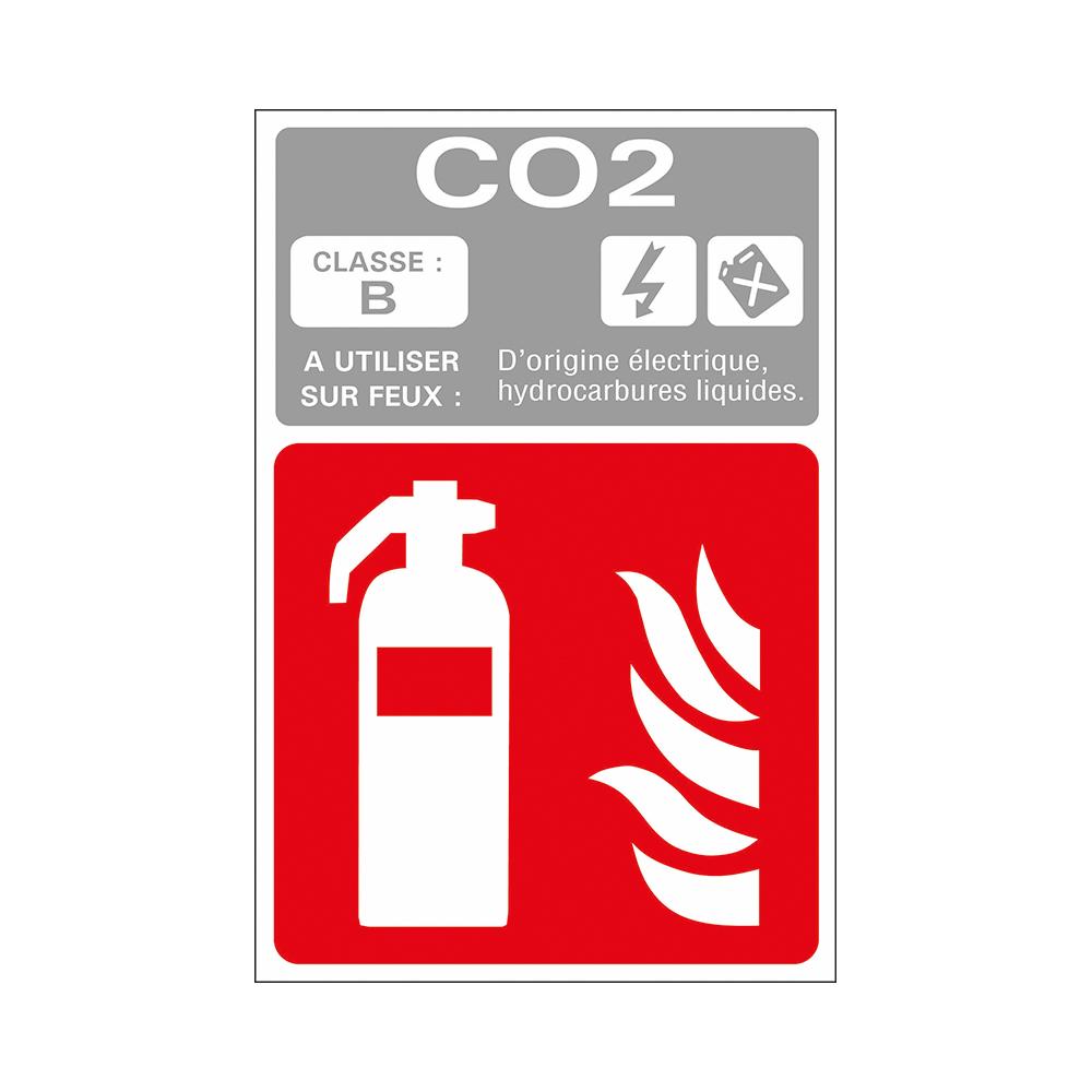 Bord 180x120 mm - 12791 Extincteur CO2