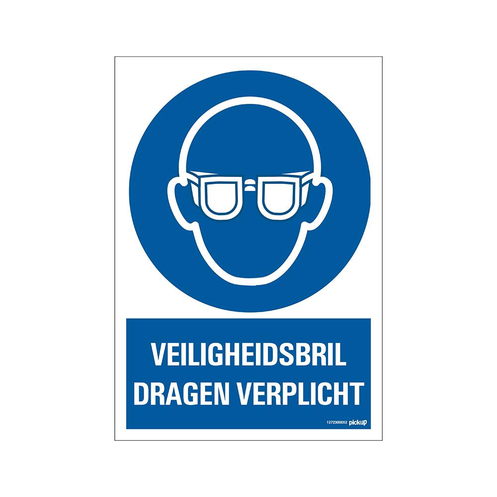 Bord 23x33cm Combinatie - Veiligheidsbril verplicht