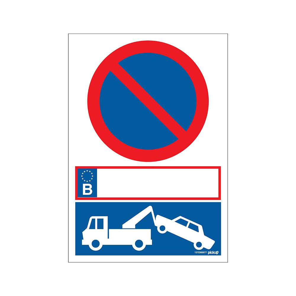 Bord 23x33cm Combinatie - Parkeerverbod met wegsleepregeling