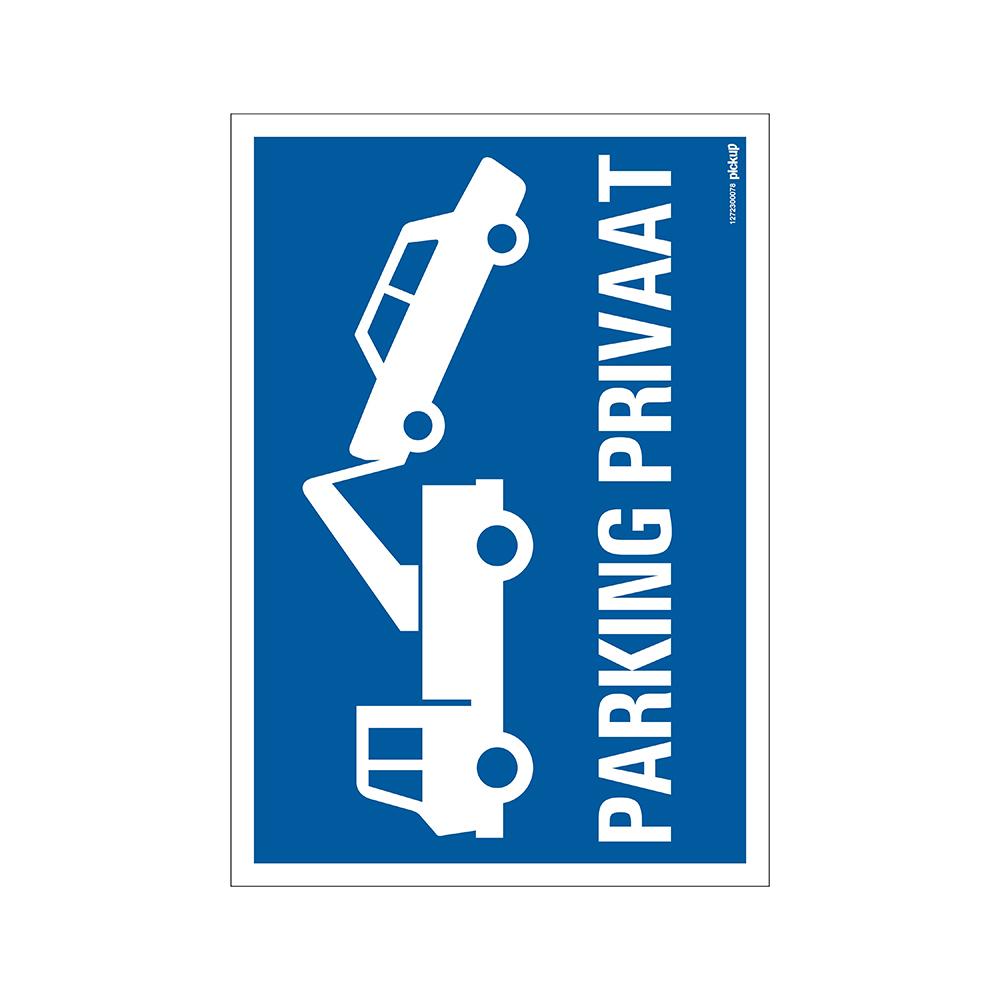 Bord 23x33cm Combinatie - Parking privaat