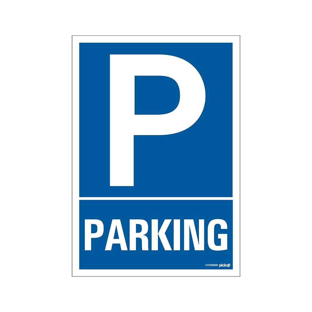 Bord 23x33cm Combinatie - P Parking