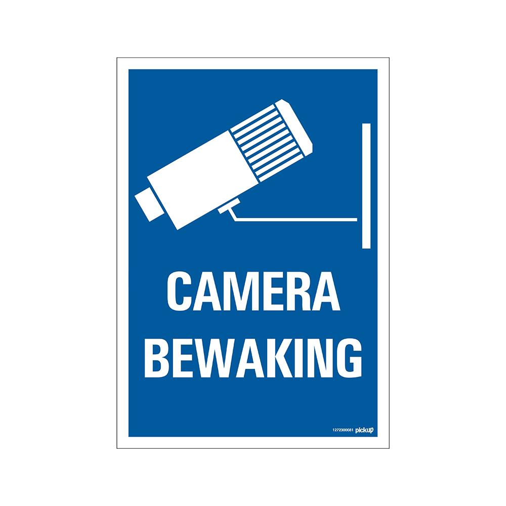 Bord 23x33cm Combinatie - Camera Bewaking