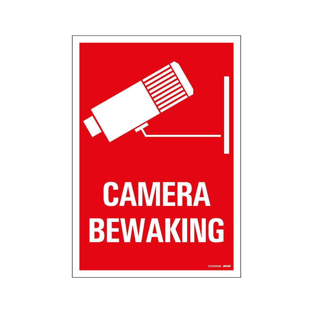 Bord 23x33cm Combinatie - Camerabewaking