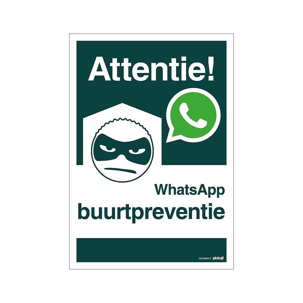 Bord 23x33cm Combinatie - WhatsApp Buurtpreventie