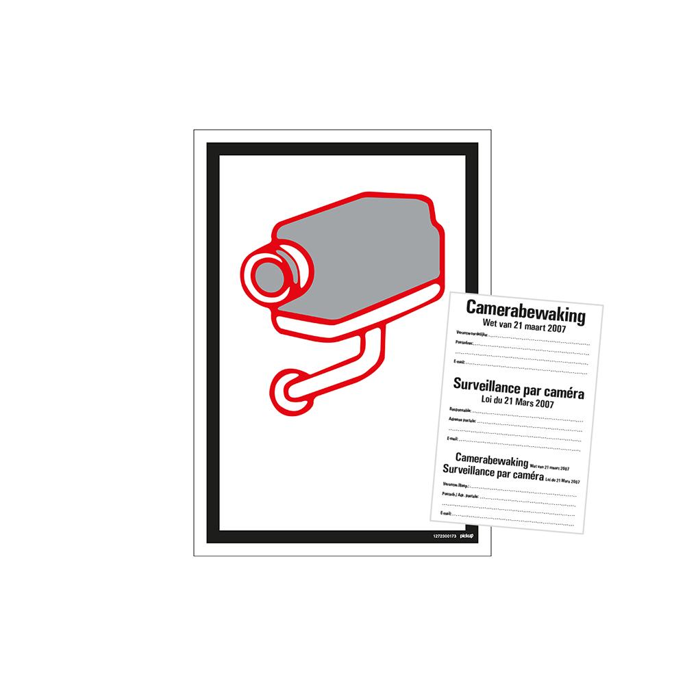 Bord 23x33cm Combinatie - Camerabewaking Belgie