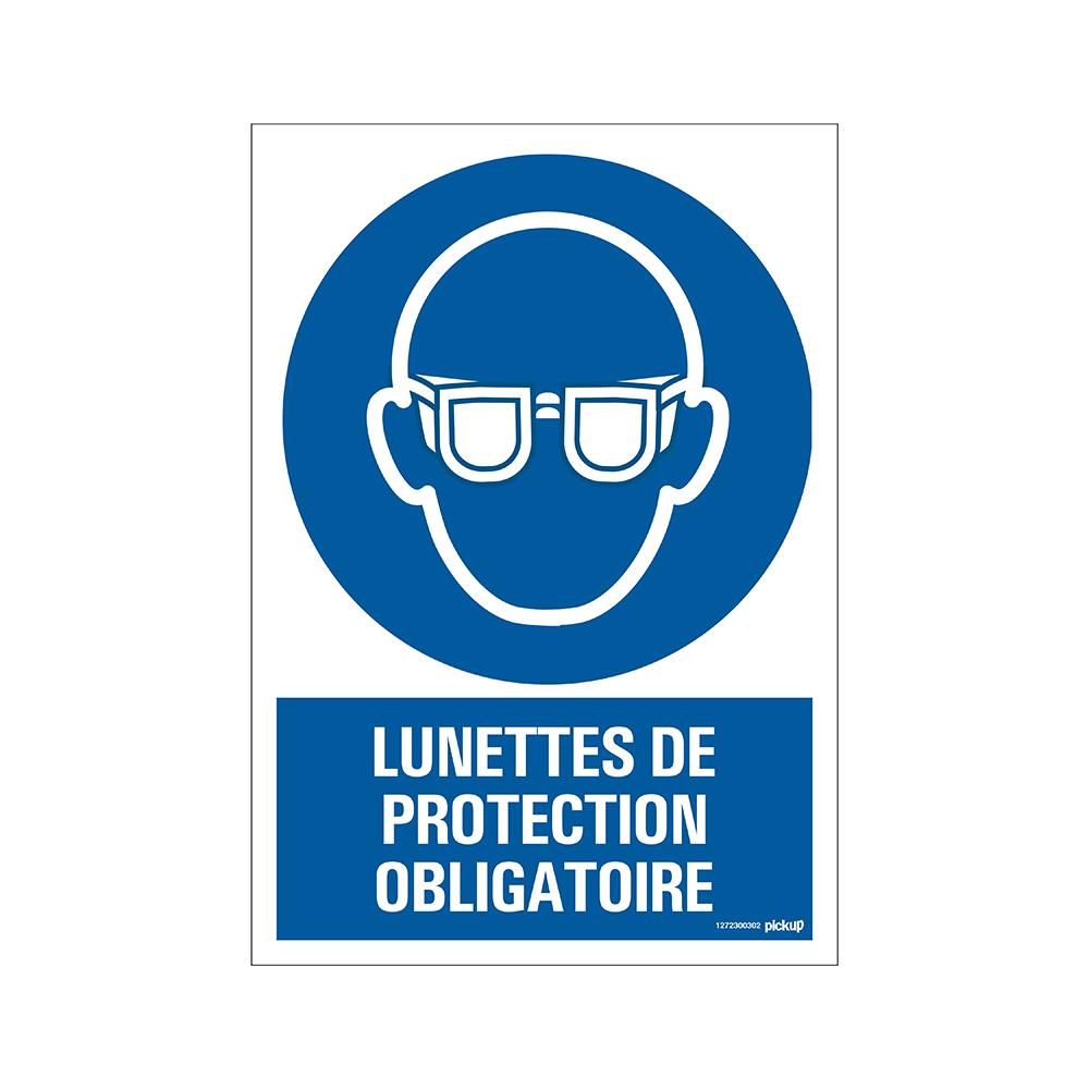 Panneau Lunettes de protection obligat 23x33cm Combi - COVID19 COVID-19 corona virus